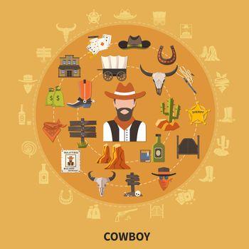 Cowboy Round Composition