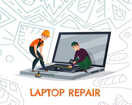 Laptop Repair Illustration