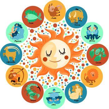 Zodiacal Circle Illustration
