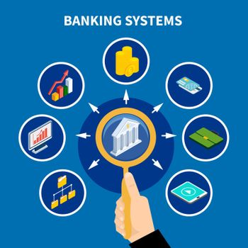 Banking Systems Pictogram Concept