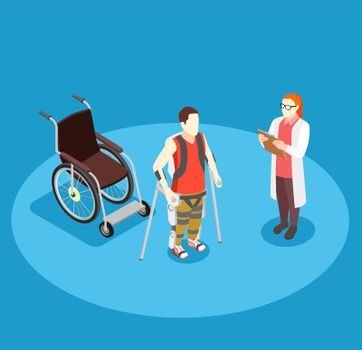 Medical Rehabilitation Isometric Composition