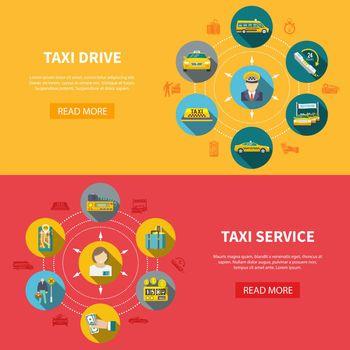 Taxi Company Horizontal Banners