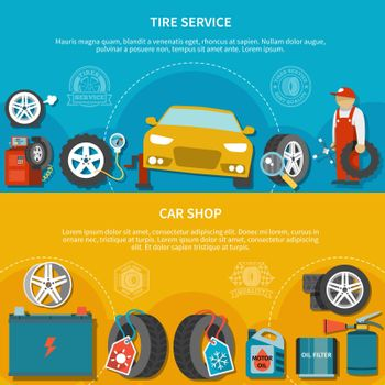 Tire Service Banners