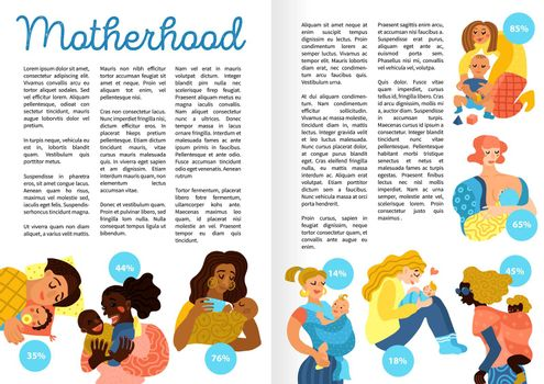 Motherhood Hand Drawn Infographics