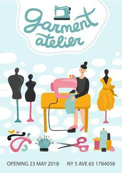 Garment Atelier Advertising Poster