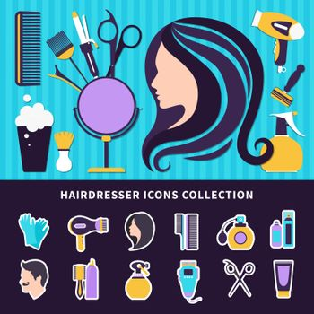 Hairdresser Colored Composition