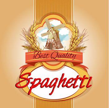Spaghetti pack label