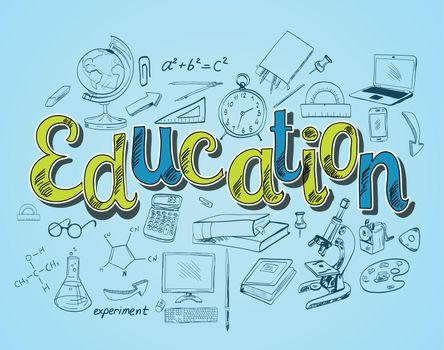 Education icon concept