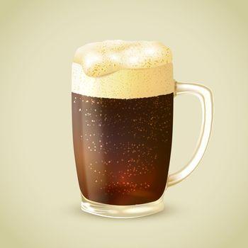 Mug of dark beer emblem