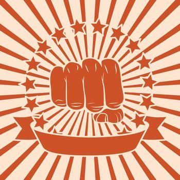 Fist comic poster