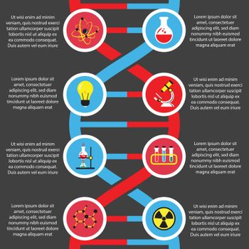 Chemistry or biology flat infographics