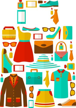 Shopping sale carry bag emblem
