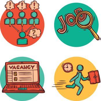 Job business concept icons composition