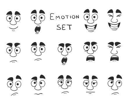 Facial Avatar Emotions Icons Set