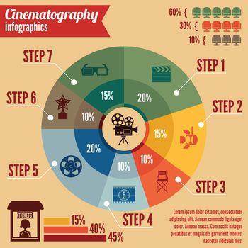 Cinema entertainment business infographics