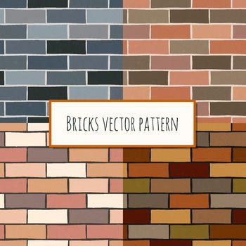 Seamless brick wall rectangular pattern