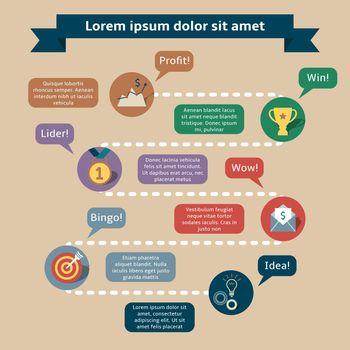 Success infographics template