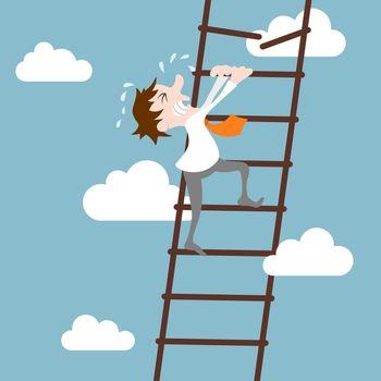 Businessman character career development concept