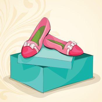 Glamour woman's pink ballet flats