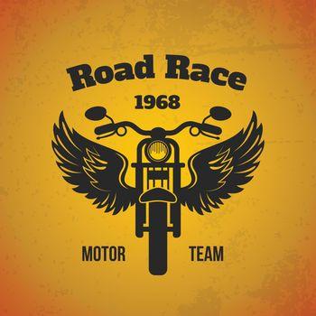 Moto Wings Poster
