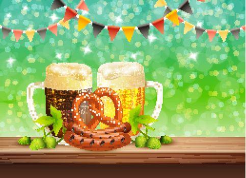 Beer Realistic Illustration