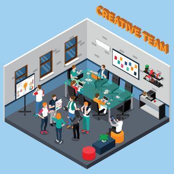 Creative Team Isometric Illustration
