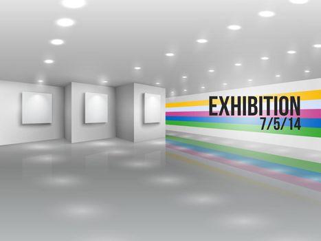 Exhibition announcement advertising invitation