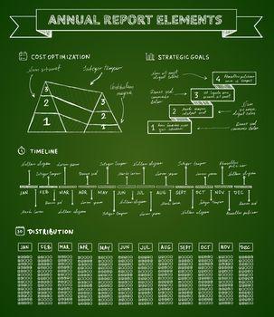Chalkboard infographics elements