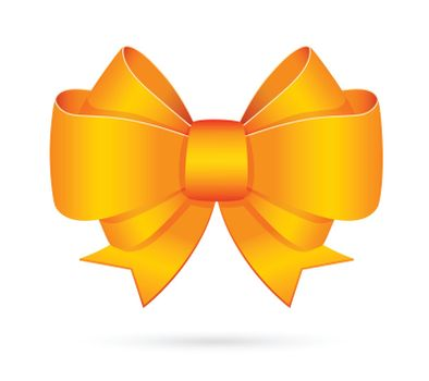 Yellow decorative bow emblem