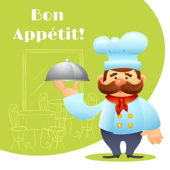 Chef With Tray Poster