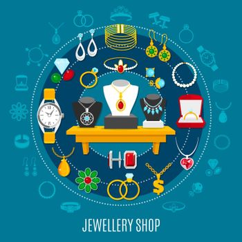 Jewelry Shop Round Composition