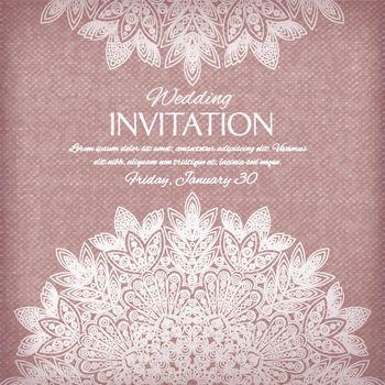 Ornamental invitation silver and pastel colors