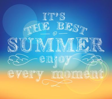 Enjoy summer poster