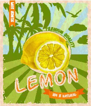Lemon retro poster
