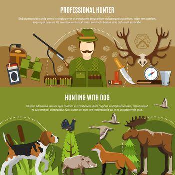 Professional Hunter Banners Set