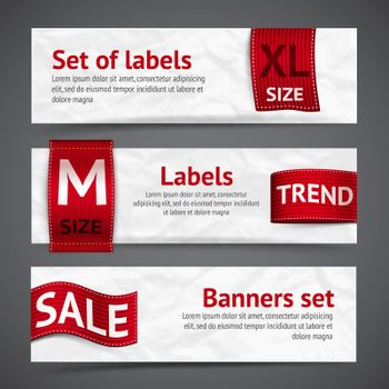 Clothing labels banners