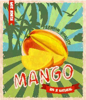 Mango retro poster