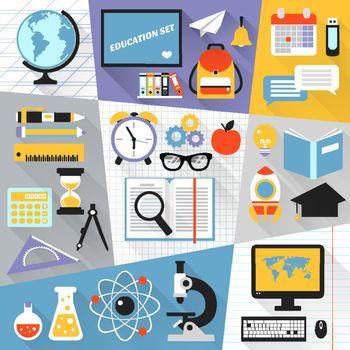 Education flat set