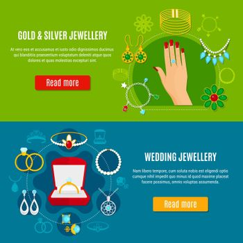 Gold And Silver Jewelry Banners