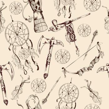 Ethnic native american seamless pattern