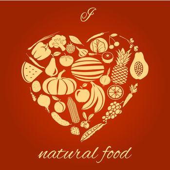 Natural food heart