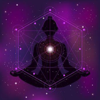 Sacred Geometry Zen Illustration