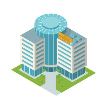 Business center building isometric