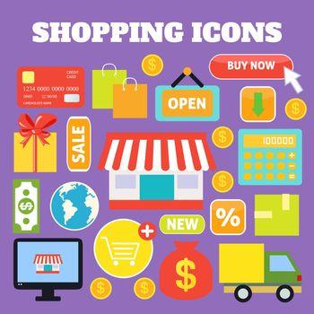 Shopping decorative icons