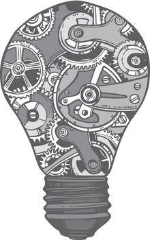 Gears lightbulb sketch