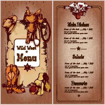 Wild west restaurant menu