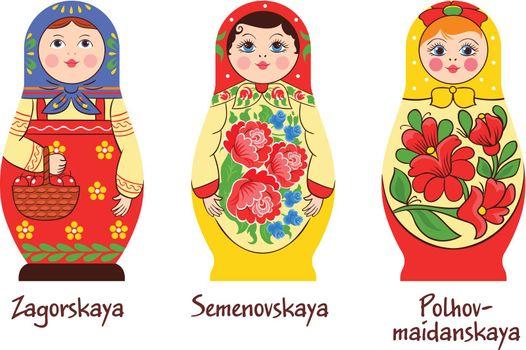 Russian Matryoshka Styles Collection