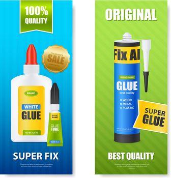 Glue Realistic Banners