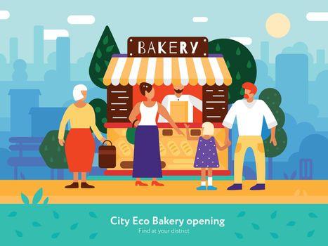 Bakery Van Illustration