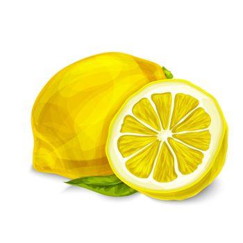 Lemon isolated poster or emblem